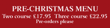 Seven Stars Dorset - Christmas Menu: Two Course £17.95 | Three Course £22.95 (pre orders please)