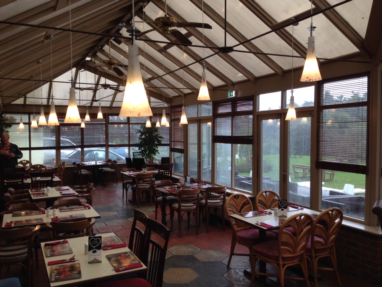 New lighting in the conservatory at The Seven Stars in Dorset
