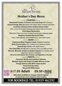 Mother's Day at The Seven Stars, Wool nr Wareham, Dorset