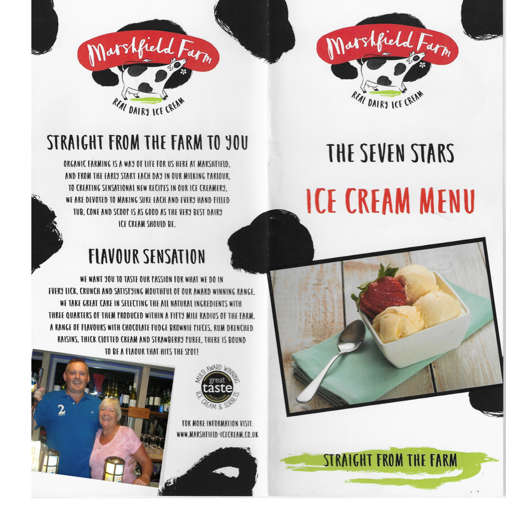 New ice cream menu