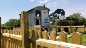 Outside view - Shepherd's Hut
